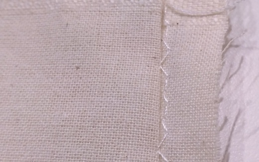 Blind hem stitching on the reverse