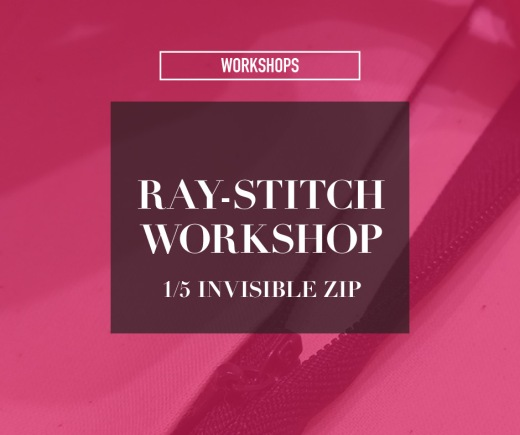 Ray-Stitch workshop: invisible zip